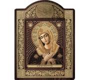 Набор для вышивки бисером в рамке-киоте Богородица «Умиление»